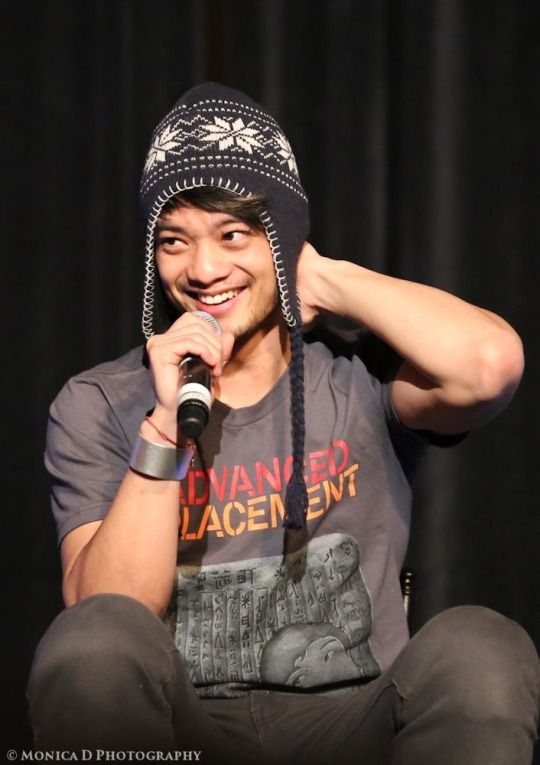 Osric Chau - also known in some circles as Master Chau - on stage during Day 1 of the Creation Entertainment Supernatural Convention in Las Vegas, March 2015 source: http://mfluder42.tumblr.com