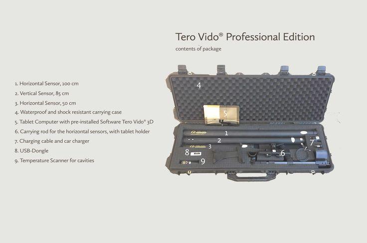 محتویات پکیج پروفشنال Tero Vido 3D