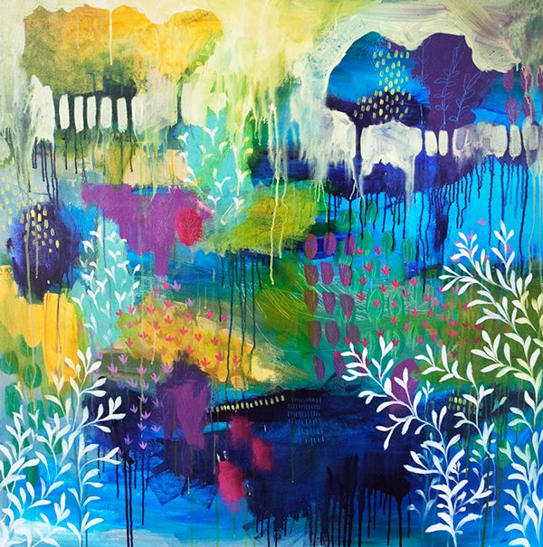 Recent Paintings on Behance by Clair Bremner