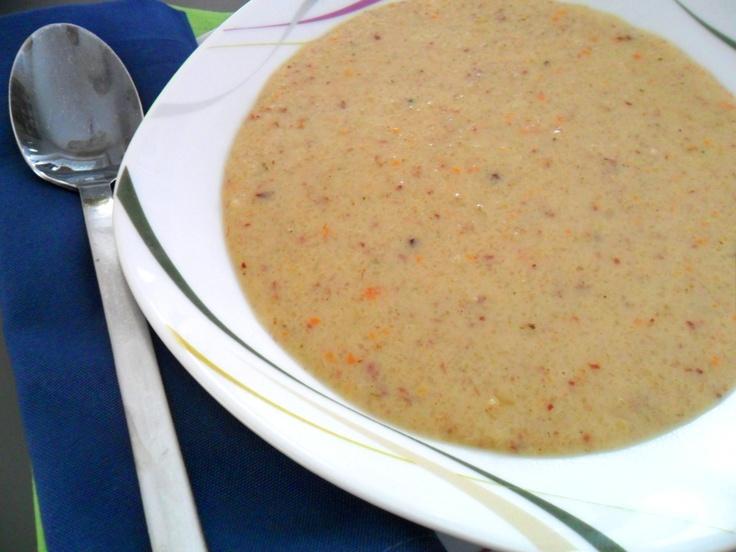 Gluten-free potato soup with carrots and coconut milk   Glutenfreie Kartoffelsuppe mit Karotten und Kokosmilch