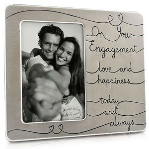 love happiness on your engagement photo frame engagement photoframe