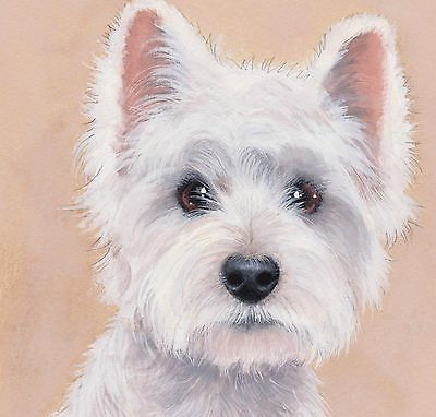 "westie drawings free | Westie""So Beautiful"" Limited Edition Art Print of Original Painting ..."