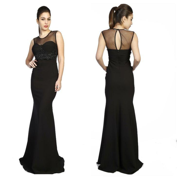 Taş detaylara bayılıyoruz. Siyah Taşlı Abiye Elbise: 139.99 TL  http://goo.gl/r6Ca6z