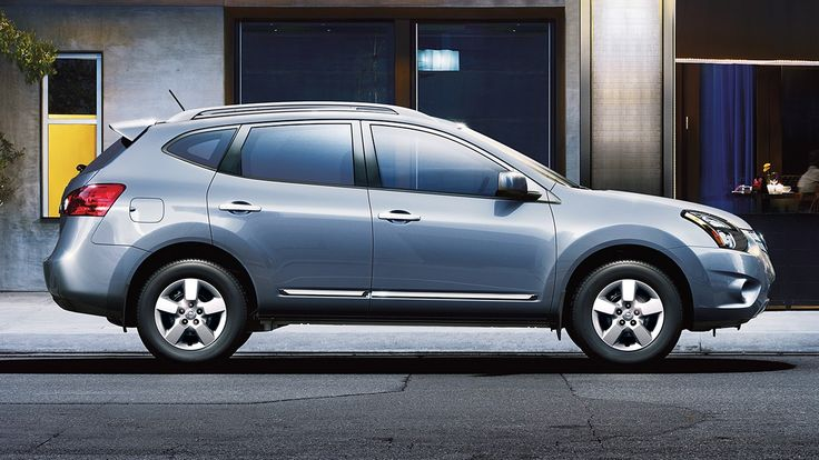 2015 Nissan Rogue Select Crossover Side view in Frosted Steel