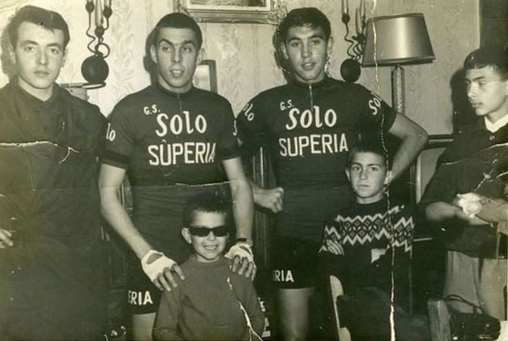 Rik Van Looy with Eddy Merckx 1965.