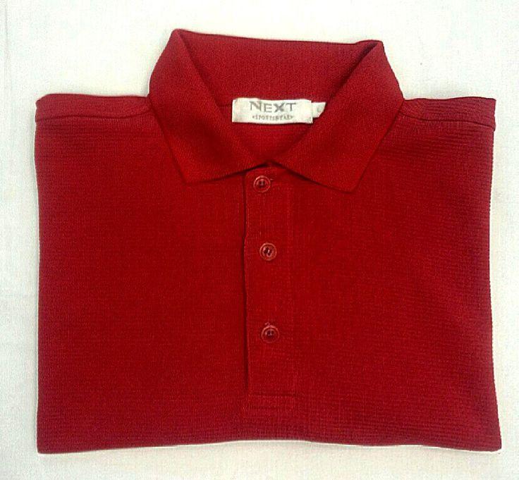 Next Sportswear- Red Microfiber Fashion Polo Shirt- size L