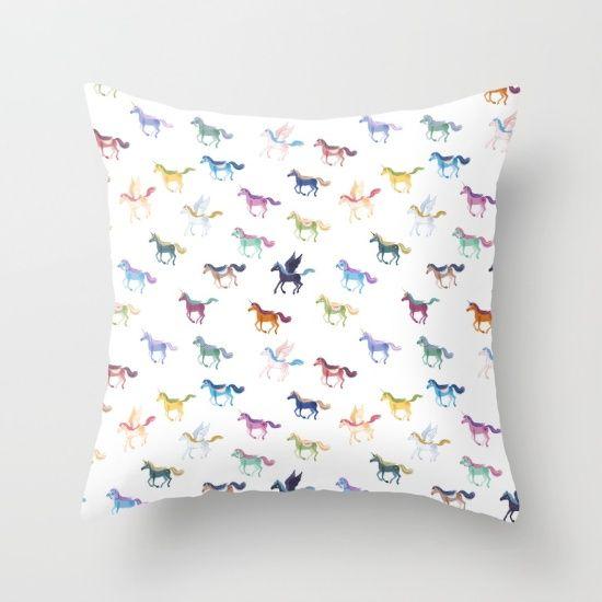 Magic Horses Throw Pillow