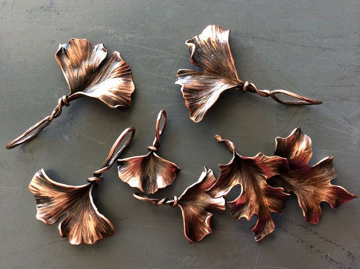 Copper leaf ornaments or pendants