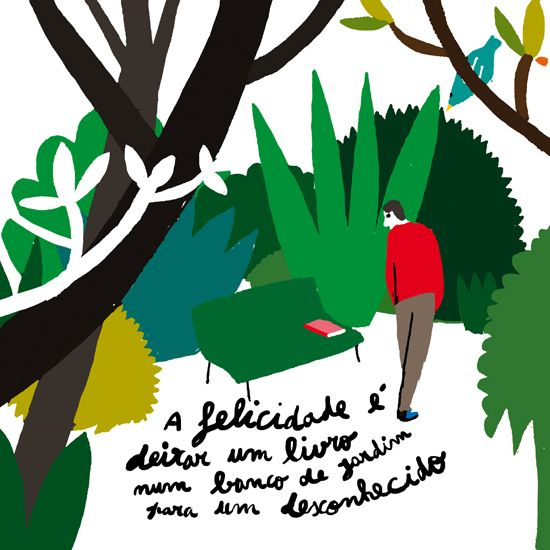 HAPPINESS IS BOOKCROSSING IN THE PARK, Bernardo Carvalho