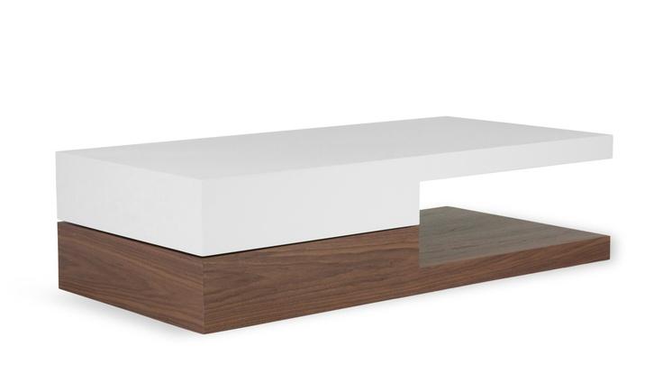 Damian Coffee Table White-Walnut