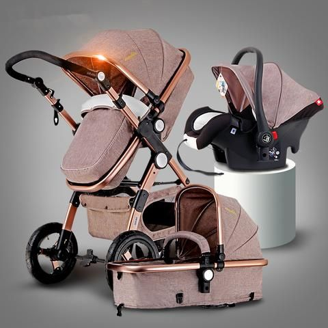 Baby Stroller 3 in 1 with Car Seafty Seat,Baby Carriage Prams European Strollers