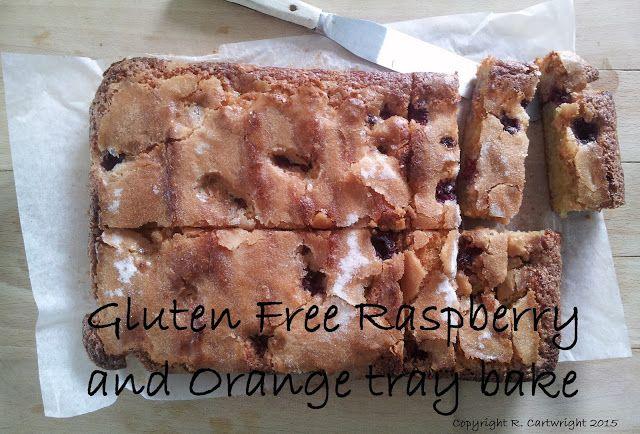 Craft with Ruth Cartwright: Gluten free Raspberry and orange tray bake.