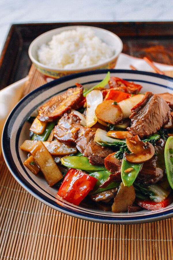 Roast Pork with Chinese Vegetables, by thewoksoflife.com