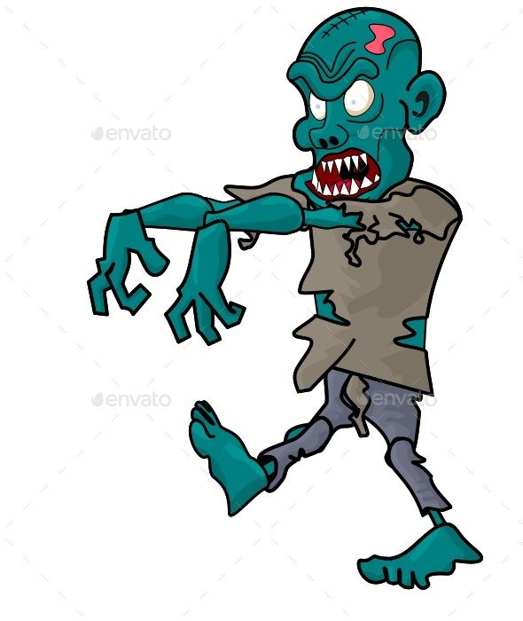 Green zombie animated asset for unity  The asset contains