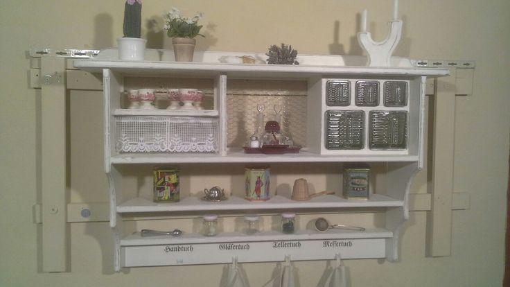Aus der Holzwerkstatt von Ansolece Vintage, Shabby chic, Regal - küchen wandregal landhaus