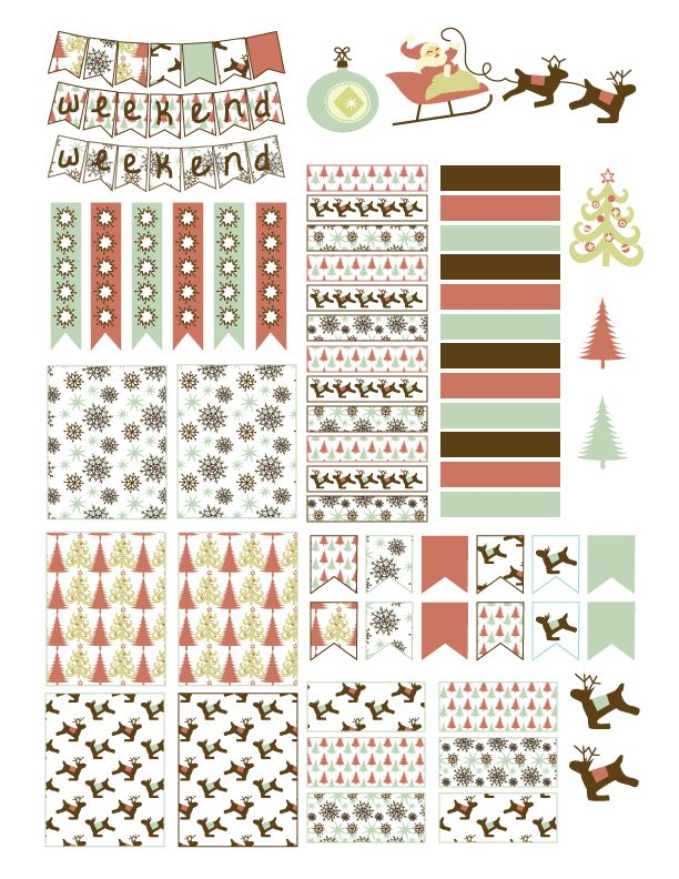 Free Printable Christmas Planner Stickers from Laughing and Losing It