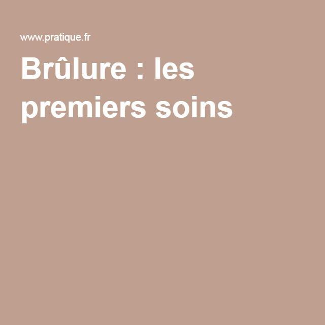 Brûlure : les premiers soins #santé #conseils