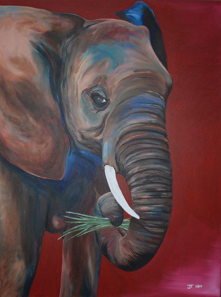 elephant artwork | Description: Elephant (unfinished)