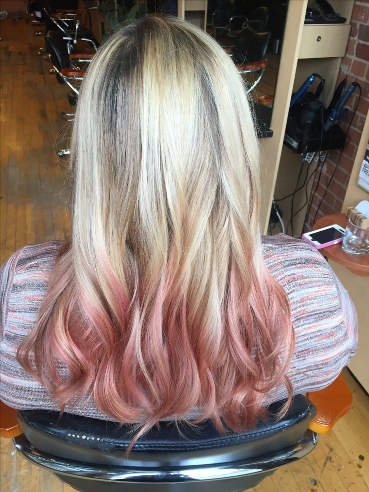 Balayage highlights with rosy pink ends Www.facebook.com/hairartandsoul