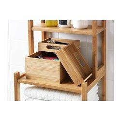 DRAGAN Box, set om 3, bambu - 23x17x14 cm - IKEA