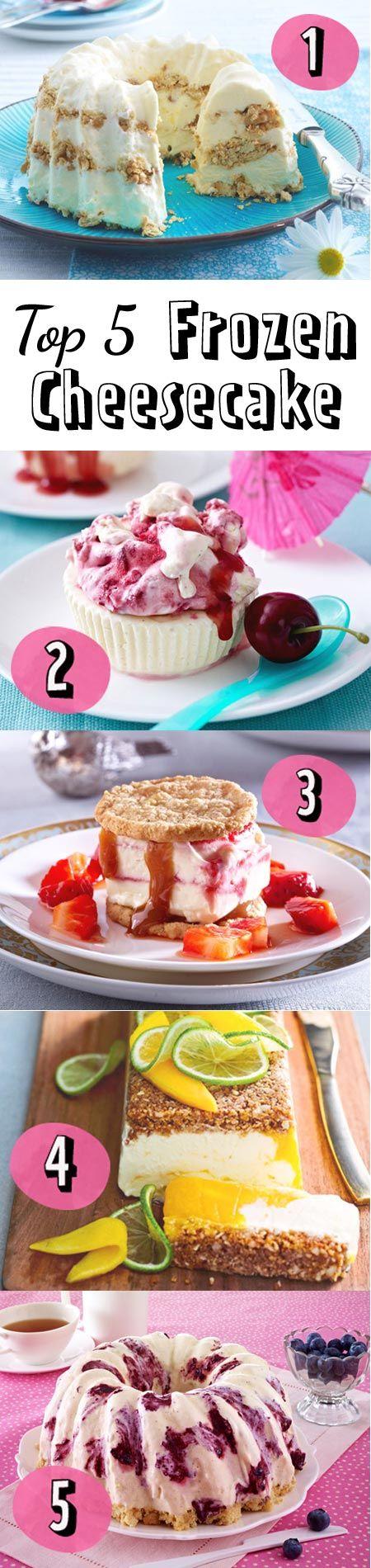 """Eisgekühlte Kuchen sind perfekt für den Sommer. Das sind unsere TOP 5 Frozen Cheesecake-Rezepte zum """"Nachbacken""""."""