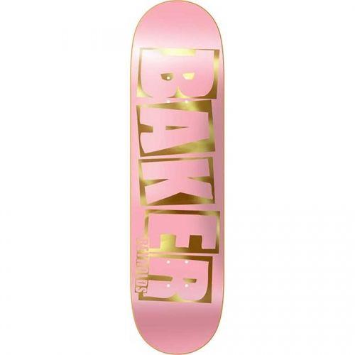 Baker Skateboards Baker Andrew Reynolds Brand Name Deck Pink/Gold 8.5x32