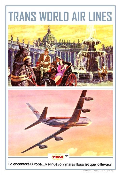 TWA-TRANS WORLD AIR LINES-Buenos Aires 1961                                                                                                                                                                     Autor: anónimo