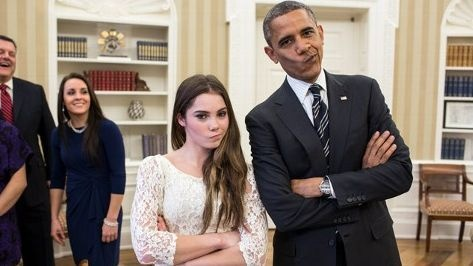 """President Obama and Olympic gymnast McKayla Maroney caught up recently and snapped a picture for the ages. Fresh off of the Olympics, McKayla Maroney's """"sideways"""" mouth meme has overtaken the internet, and even the President of The United States is not immune. The 16-year-old Olympian met with President Obama recently and the below picture was the outcome. Internet gold."""