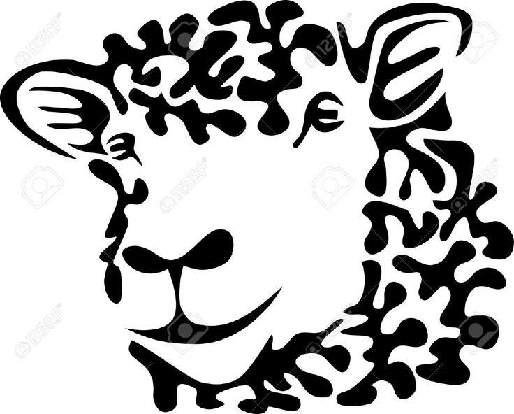 Tattoo Goat Head Isolated Stock Vector Illustration Of