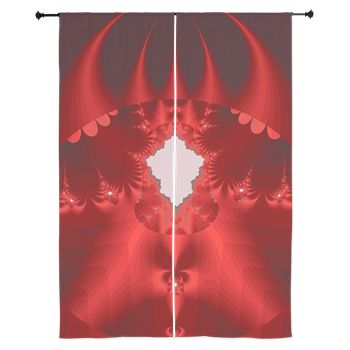 Wizardry (Red) Curtains by Terrella