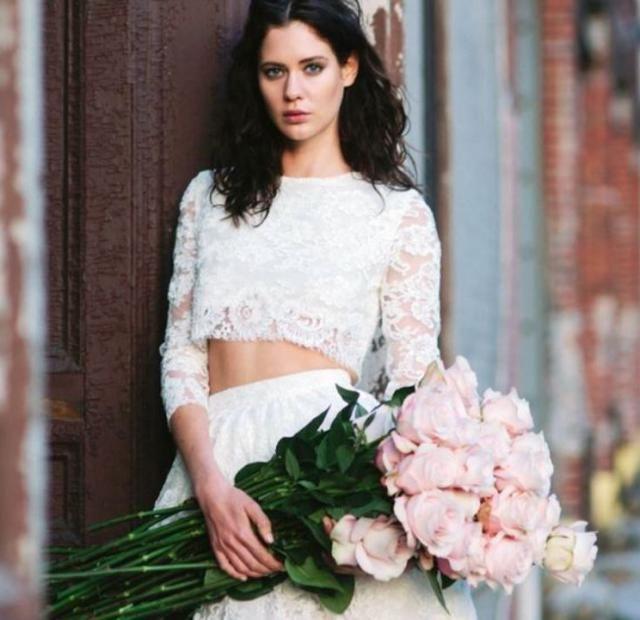 Горячий тренд: двухкомпонентный свадебный наряд