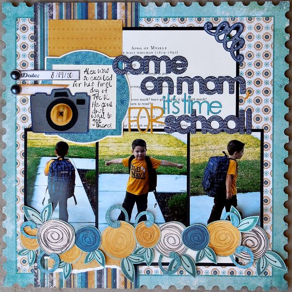 17 Best Ideas About School Scrapbook Layouts On Pinterest