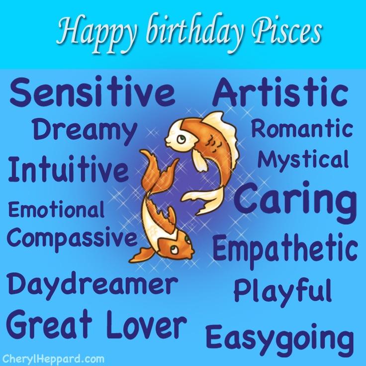 Pisces birthday zodiac graphic