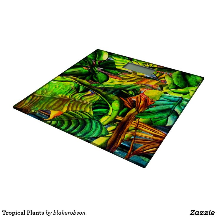 Tropical Plants Bathroom Scale