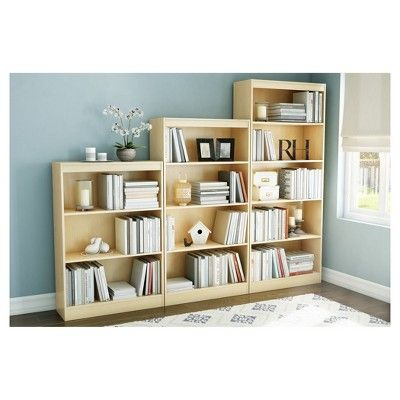 Axess 5   Shelf Bookcase   Natural Maple (Brown)   South Shore