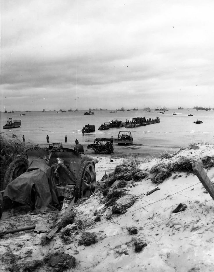 Destruction on D-Day Beach France Normandy 1944