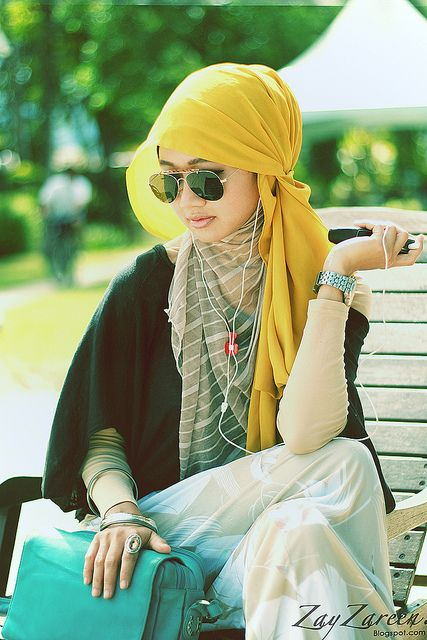 layers and colorsssssss <3 ❤ hijab style