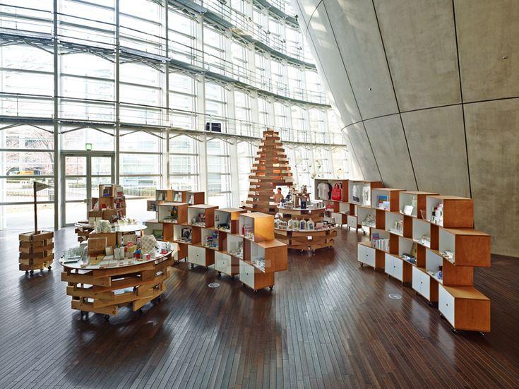 torafu architects cart souvenir shop at the national art center tokyo