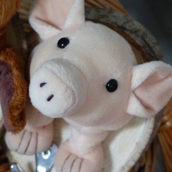 Kindergarderobe-Schweinchen von Cheeky Bird