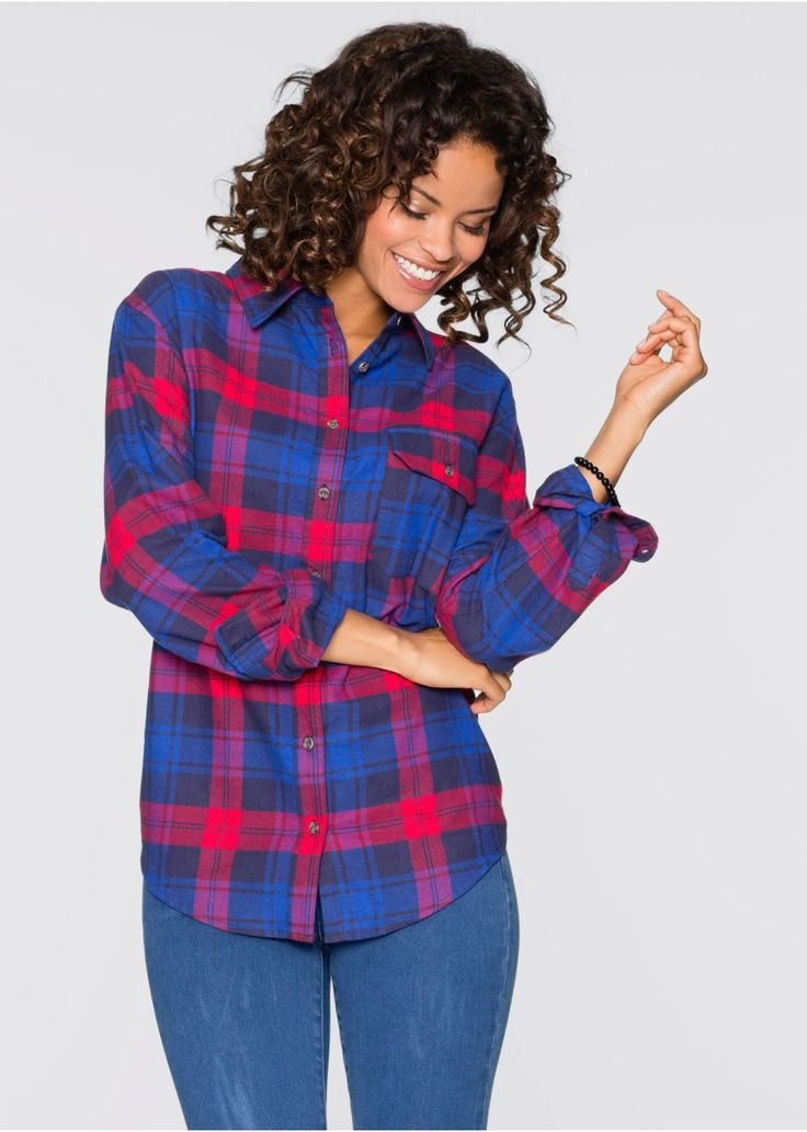 Koszula w kratę W stylu boyfriend • 67.99 zł • bonprix