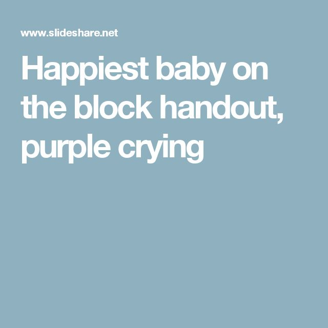 Crying Handout Purple