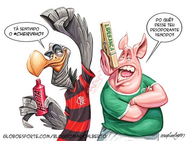 Charge Campeonato Brasileiro Palmeiras Flamengo (Foto: Mario Alberto)