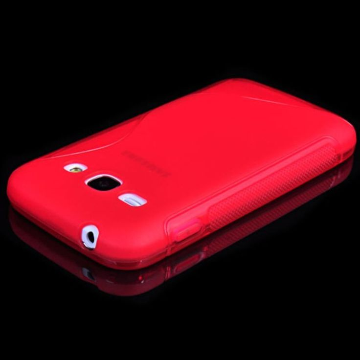 S LINE JELLY SOFT SILICONE SKIN CASE FOR SAMSUNG GALAXY ACE 3 RED (F7M4E