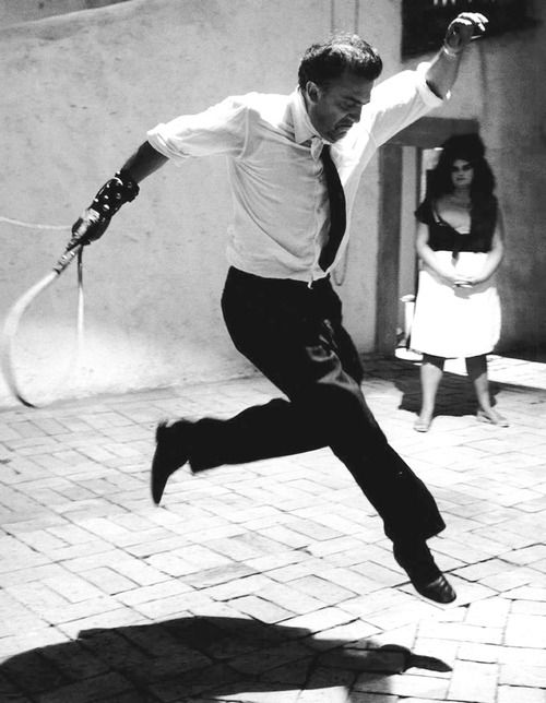 Federico Fellini on the set of 8½ (1963)