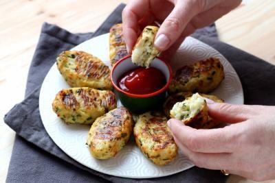 Croquettes de chou fleur au parmesan (oeuf, oignon, ciboulette, chou fleur, Comté, parmesan, chapelure, sel/poivre)