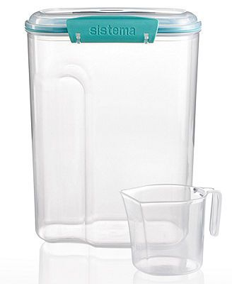 Martha Stewart Collection Storage Container, 110 Oz. with Measuring Cup clear/turquoise 9.99* 10%off