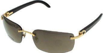 cartier sunglasses unisex genuine horn c decor gold rimless