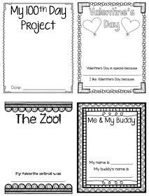 Printer friendly Kindergarten Memory Book to capture all of the Kindergarten milestones!