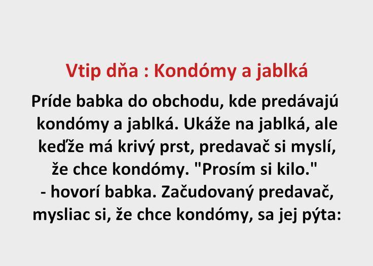 Vtip dňa : Kondómy a jablká - Spišiakoviny.eu