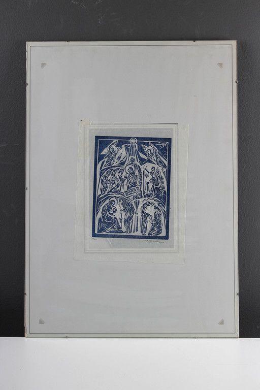 Ina Colliander, 1977, puupiirros, 33x26 cm, edition 24/300 - Huutokauppa Helander 06/2015